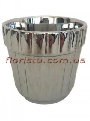Кашпо керамическое Серебро 9/8 см