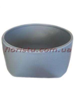 Кашпо керамическое Кимоно серое 18/8 см