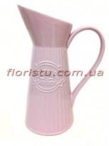 Кувшин керамический для декора Flowers Garden розовый 30 см