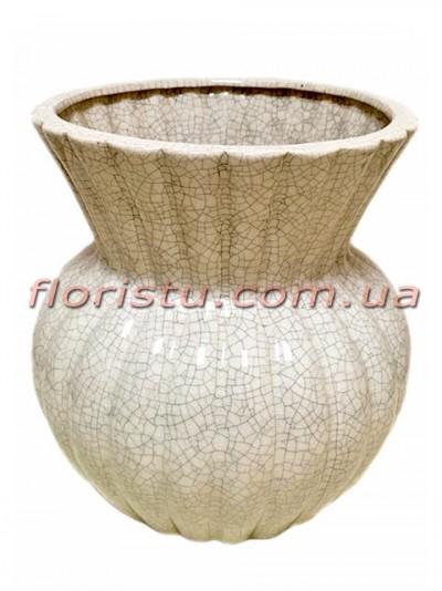 Ваза керамическая Vanilla белая 22 см