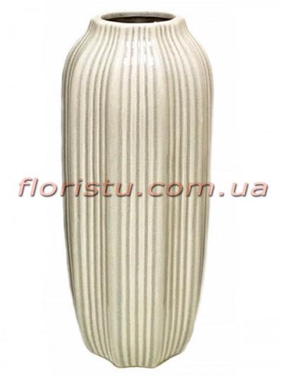 Ваза керамическая Vanilla 42 см
