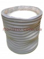 Кашпо керамическое с наполнителем Серое 16 см