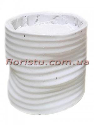 Кашпо керамическое с наполнителем Белое 12 см