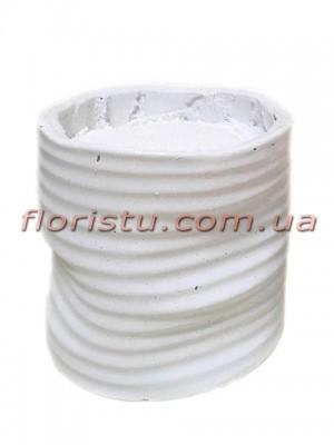 Кашпо керамическое с наполнителем Белое 10 см