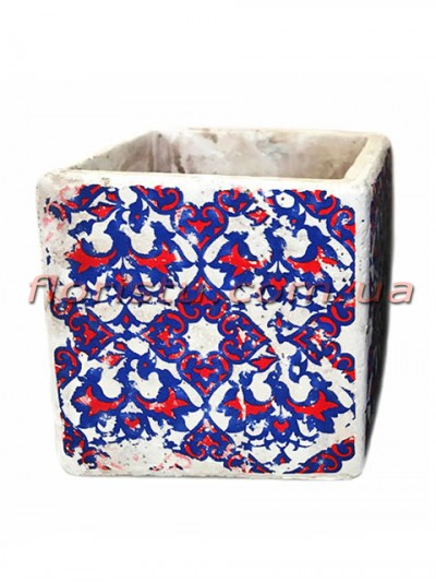 Кашпо керамическое Марокко квадрат 11 см №4
