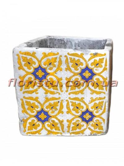 Кашпо керамическое Марокко квадрат 11 см №2