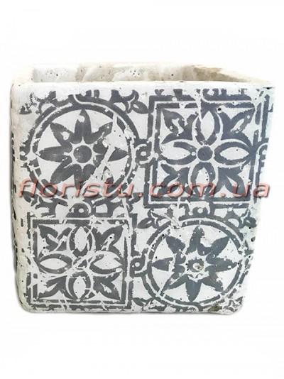 Кашпо керамическое Марокко квадрат 13 см №1