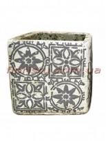 Кашпо керамическое Марокко квадрат 11 см №1