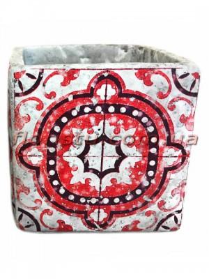 Кашпо керамическое Марокко квадрат 13 см №3