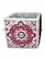 Кашпо керамическое Марокко квадрат 11 см №3
