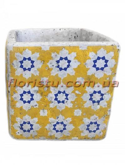 Кашпо керамическое Марокко квадрат 13 см №5
