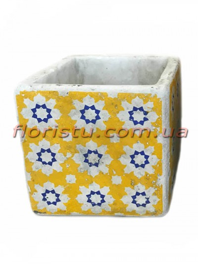 Кашпо керамическое Марокко квадрат 11 см №5