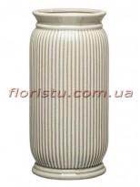 Ваза керамическая Vanilla цилиндр зеленая 30 см