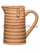 Кувшин керамический для декора с пуговицами Бежевый 17 см