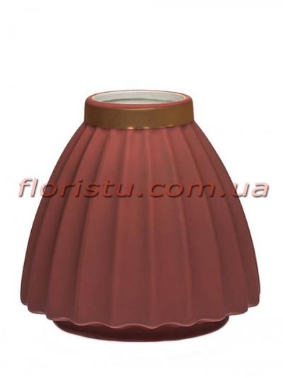 Ваза керамическая матовая Бордо 16 см