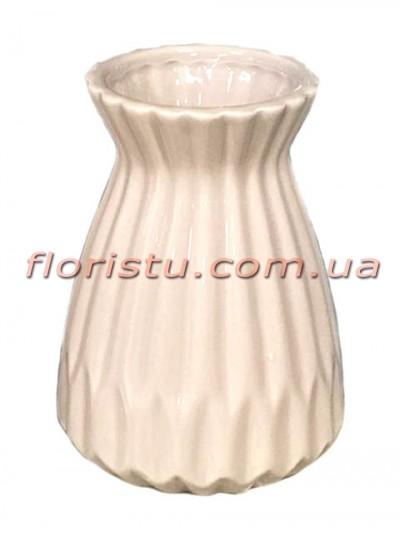 Ваза керамическая Оригами розовая 15 см