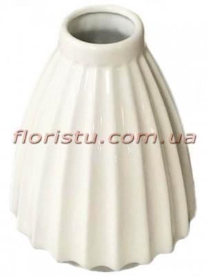 Ваза керамическая глянцевая Белая 25 см