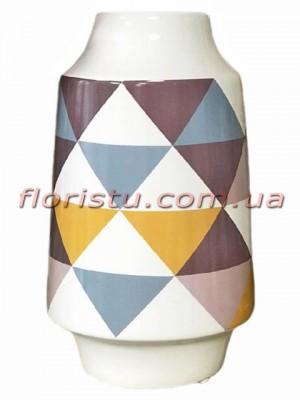 Ваза керамическая глянцевая Геометрик 23 см
