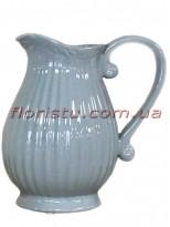 Кувшин керамический винтажный для декора Серый 20 см