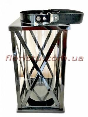 Фонарь-подсвечник металлический премиум класса Оriginal Black 25 см