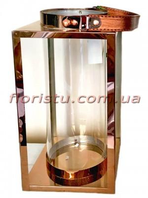 Фонарь-подсвечник металлический премиум класса Simple 27 см