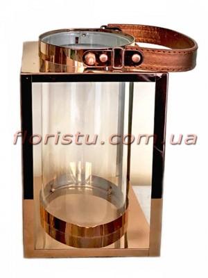 Фонарь-подсвечник металлический премиум класса Simple 22 см