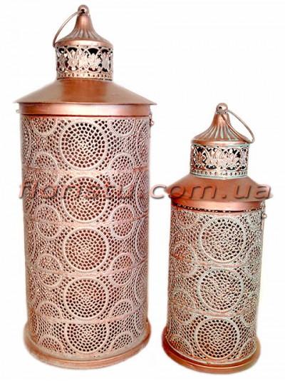 Набор фонарей для декора металлических премиум класса РИШЕЛЬЕ 53 см и 39 см