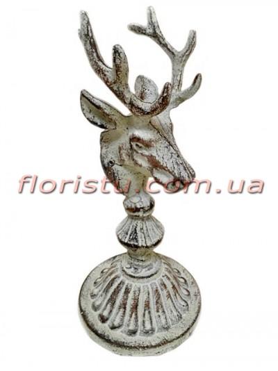 Декоративная металлическая статуэтка Олень с напылением 22,5 см