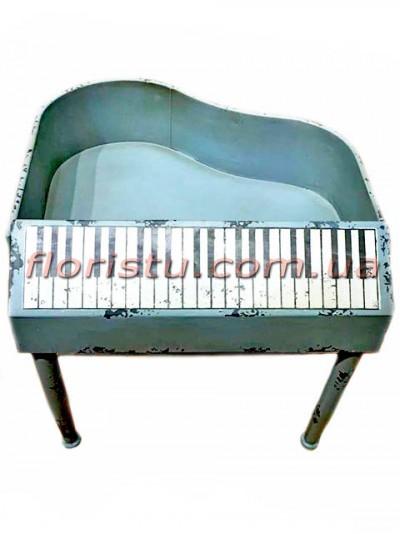 Кашпо металлическое винтажное Фортепиано 50 см