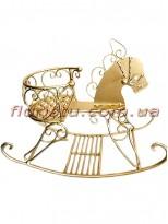 Коллекция Золото декоративная статуэтка Лошадка-качалка 31 см