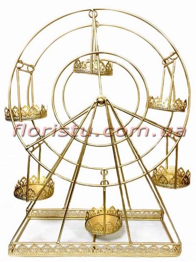 Коллекция Золото подставка для капкейков Колесо обзора  55 см