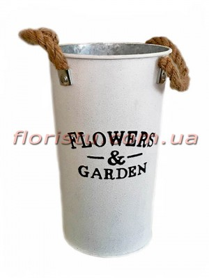 Кашпо-ведро металлическое Flowers&Garden 30 см