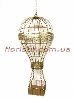 Коллекция Золото повесной декор Воздушный шар 54 см