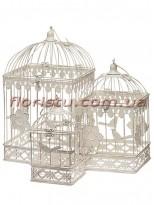 Клетки металлические для декора Винтаж беж квадратные набор 3 шт.