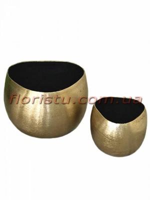Кашпо металлические Bowl Maiva Set Boltze набор 6,5/7,5 и 9/12 см