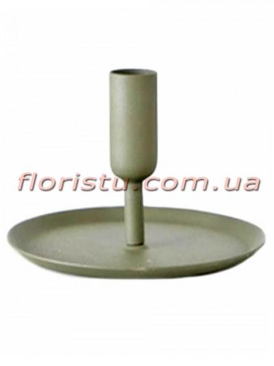 Подсвечник металлический Alkmaar Boltze Серый 8 см