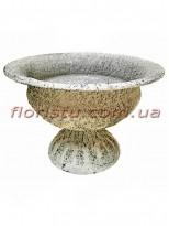 Кашпо металлическое Кубок античный №6 серый 15 см
