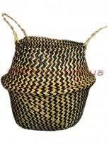 Корзина-трансформер плетеная Коричневая 28 см