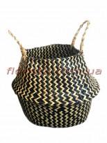 Корзина-трансформер плетеная Коричневая 21 см