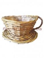 Кашпо-чашка плетеное Натуральное 19 см