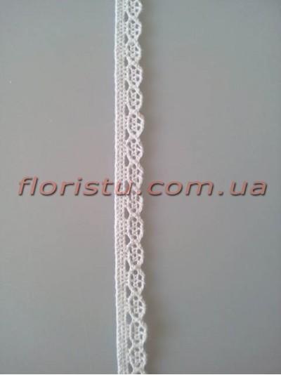 Кружево натуральное льняное № 1 Белое 1 см моток 10 м