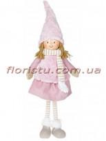 Новогодняя мягкая игрушка Девочка в юбке 48 см