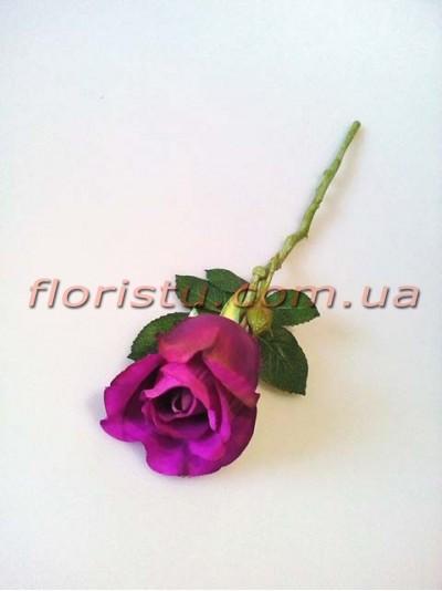 Роза искусственная мини Фиолет 32 см гол. 5 см