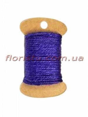 Шнурок натуральный для декора Синий индиго 2 мм 11 м