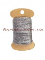 Шнурок натуральный для декора Серый 2 мм 11 м