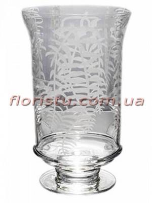 Ваза кубок из стекла премиум класса Diamond Star 29 см