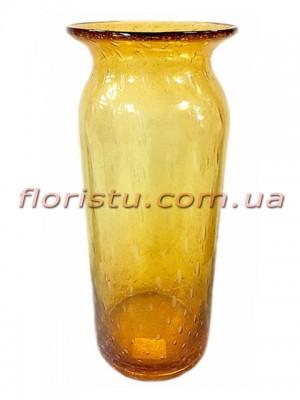 Ваза из цветного стекла Янтарная 36 см