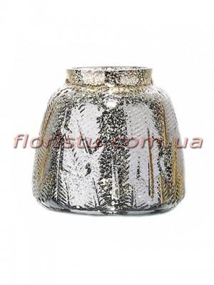 Ваза из стекла премиум класса Diamond Star Платина 16 см