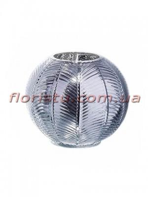 Ваза из стекла премиум класса Diamond Star Серебро 14 см