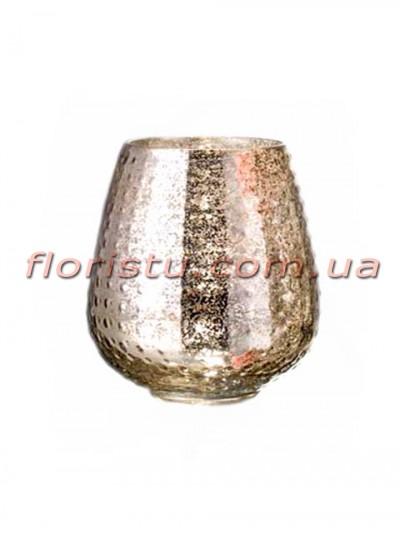 Ваза из стекла премиум класса Diamond Star Золото 15 см